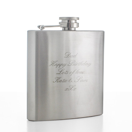 Stainless Steel Personalised Hip Flask