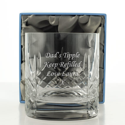 Mayfair 24% Lead Crystal Engraved Whisky Glass