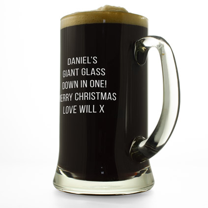personalised beer glass tankards and pewter tankards