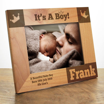 Personalised baby gifts and newborn baby presents its a boy personalised baby photo frame negle Image collections