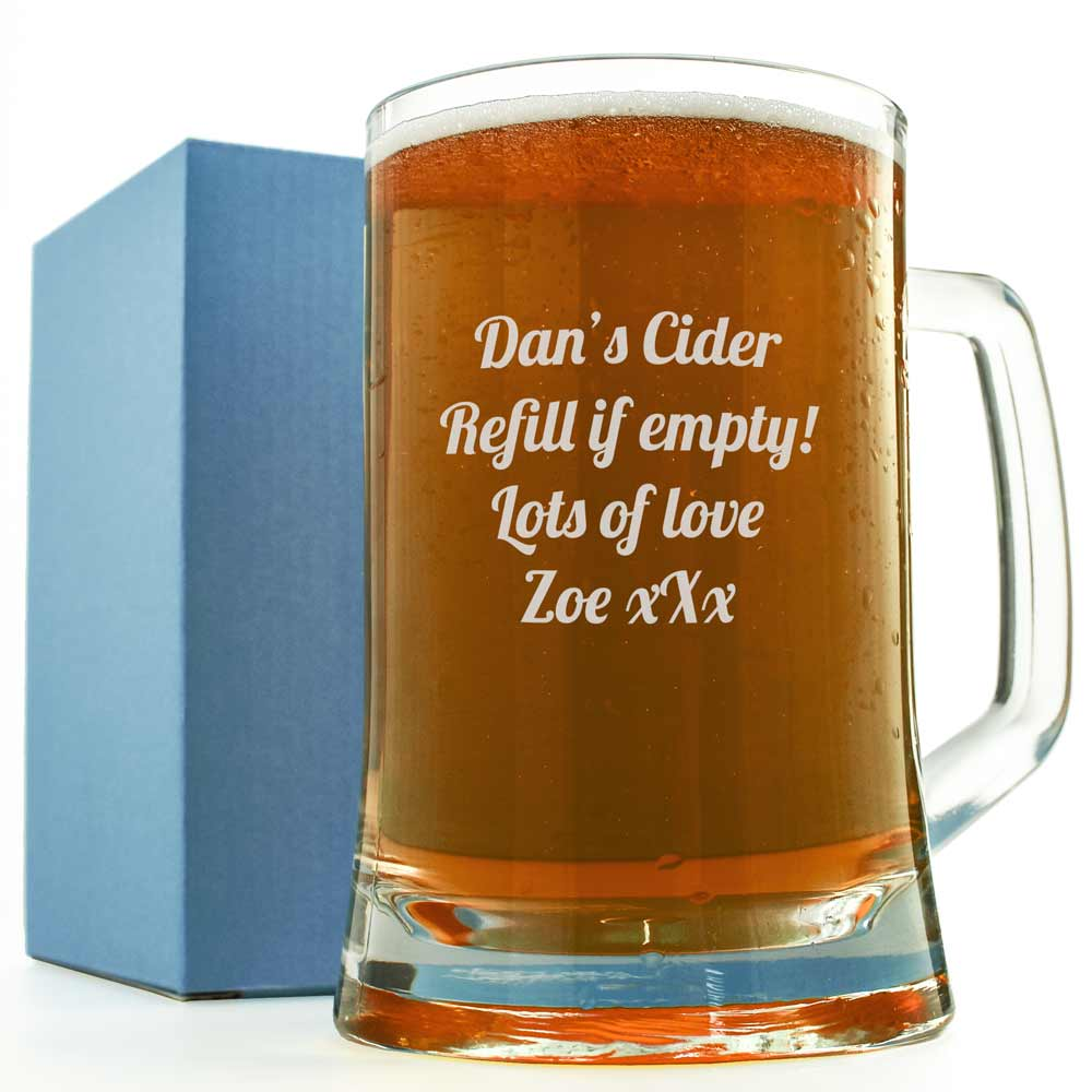 Engraved Pint Glass Engrave Any Message Or Logo On A Pint