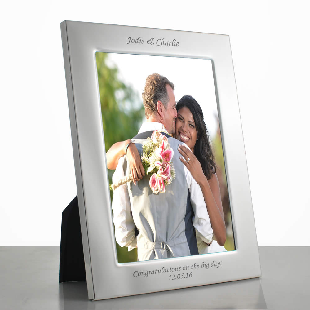 personalised silver 10 x 8 photo frame. Black Bedroom Furniture Sets. Home Design Ideas