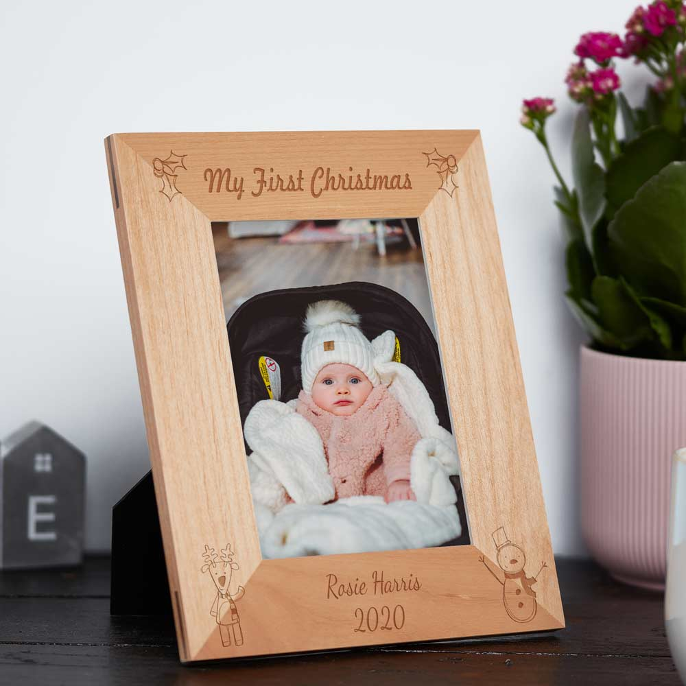 My First Christmas Personalised Photo Frame - Click Image to Close