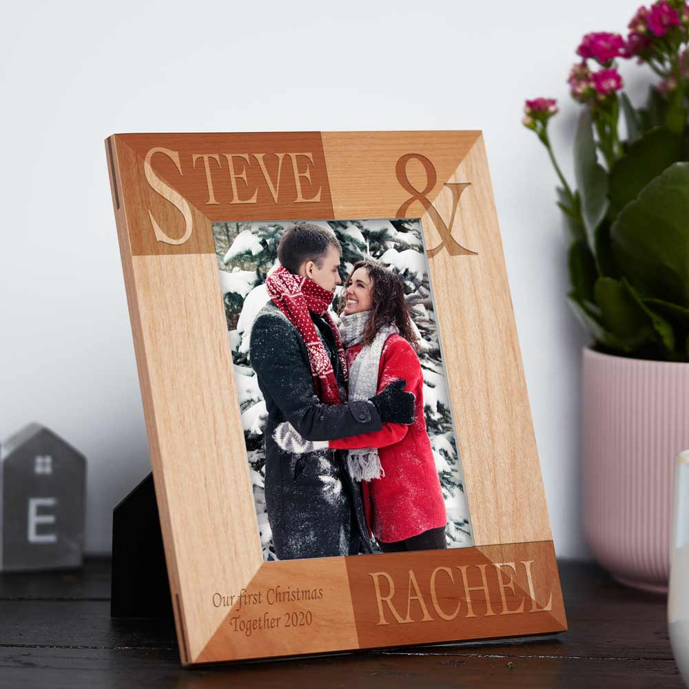 Personalised Wooden Photo Frame - Click Image to Close