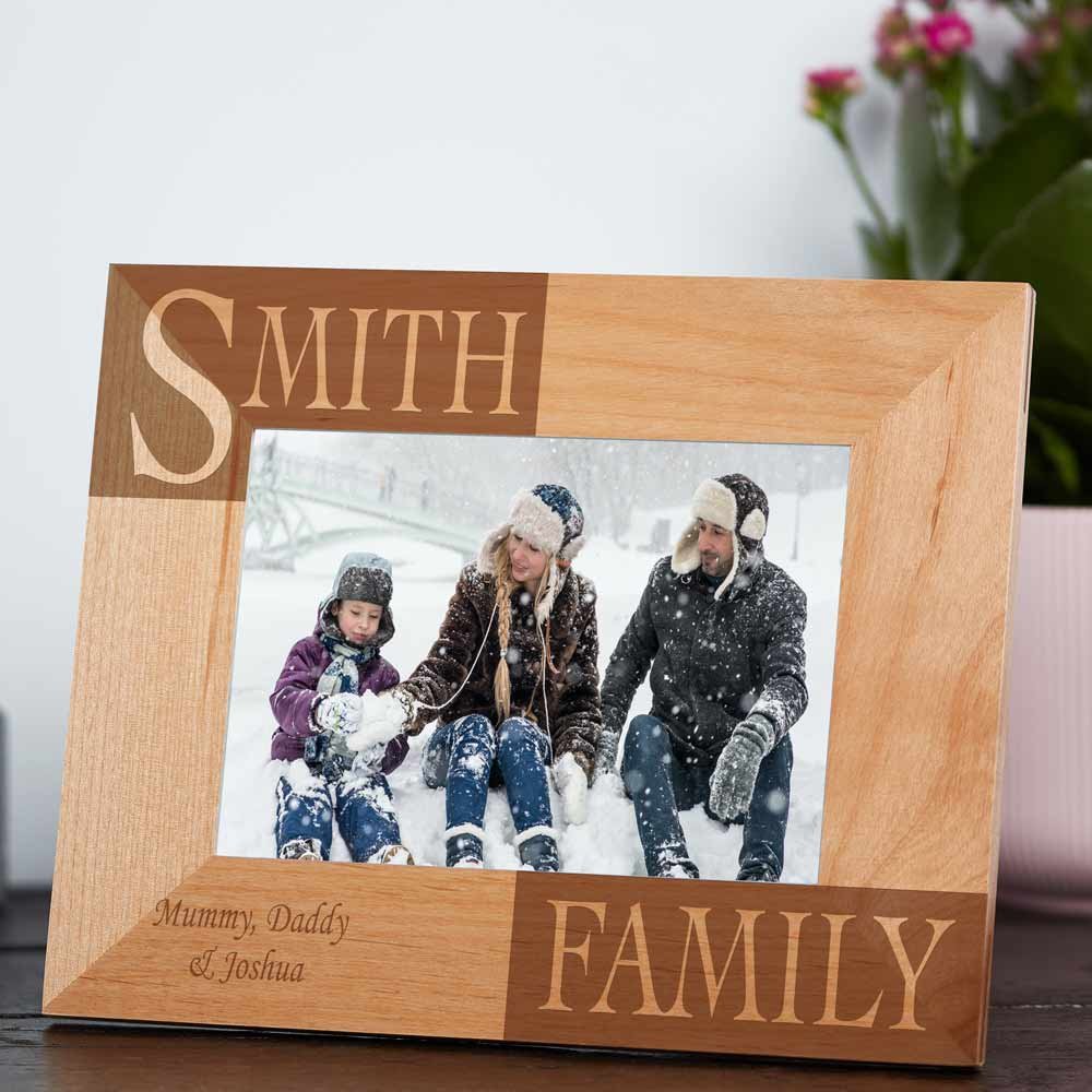 Personalised Family Photo Frame - Click Image to Close