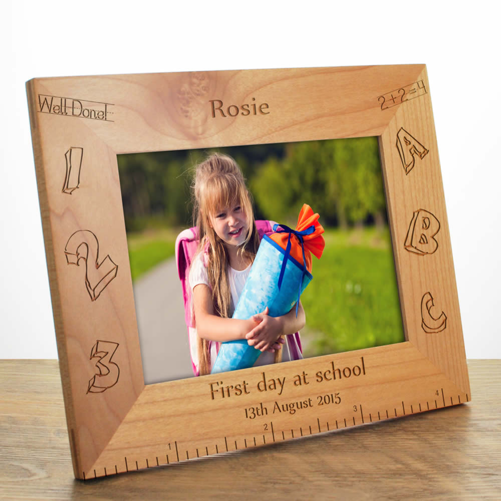 First Day At School Personalised Frame