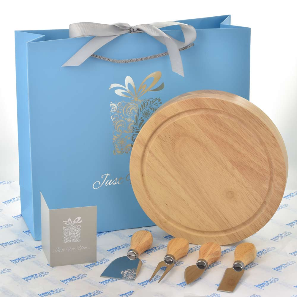 Personalised Wooden Cheese And Wine Board