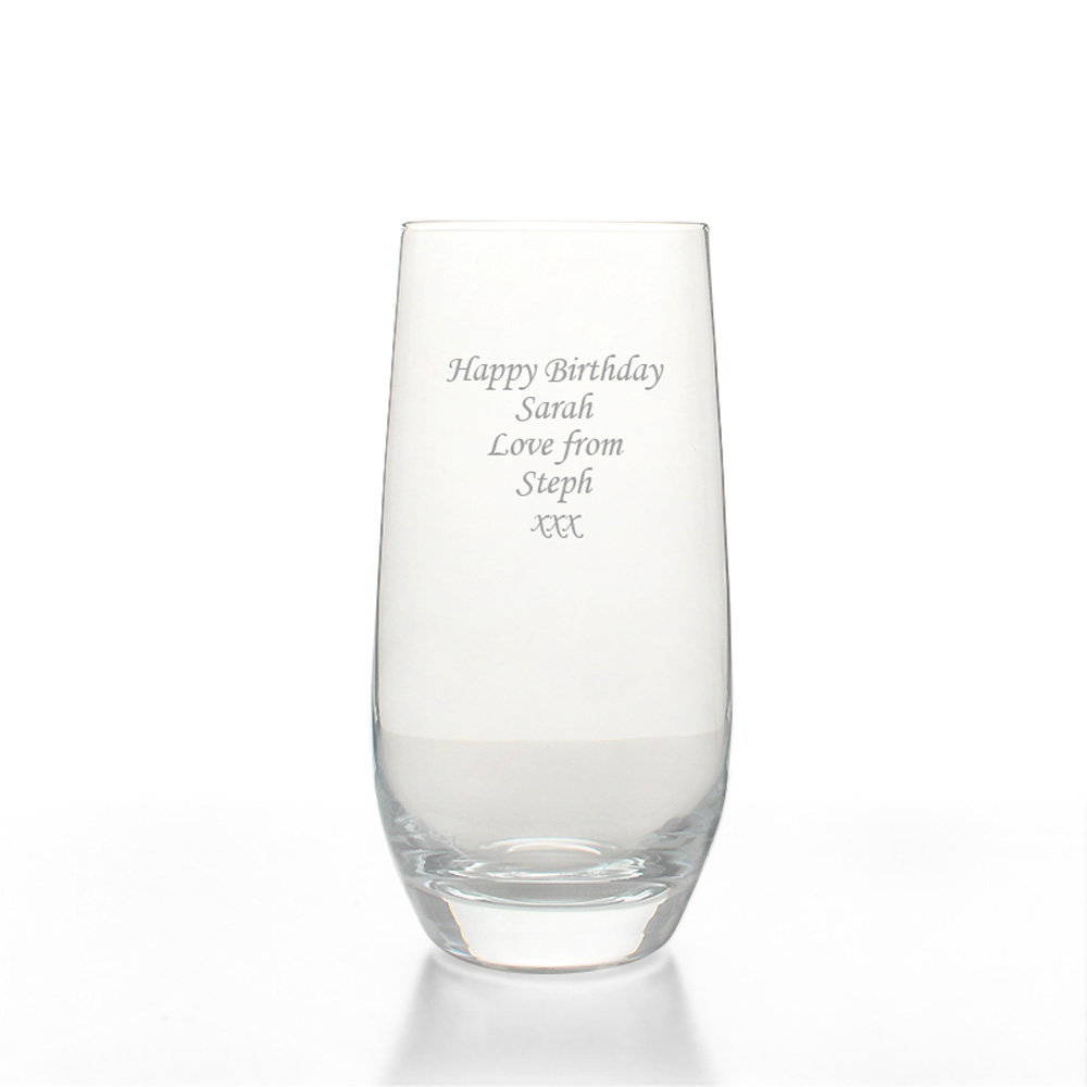 personalised dartington highball glass