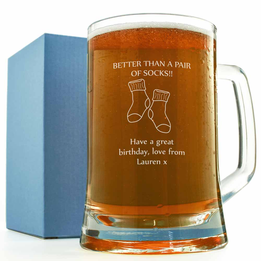 Personalised Pint Glass - Better Than A Pair Of Socks! - Click Image to Close