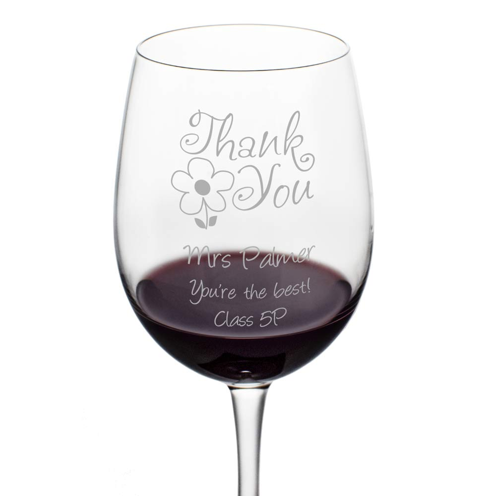 Personalised Wine Glass Thank You