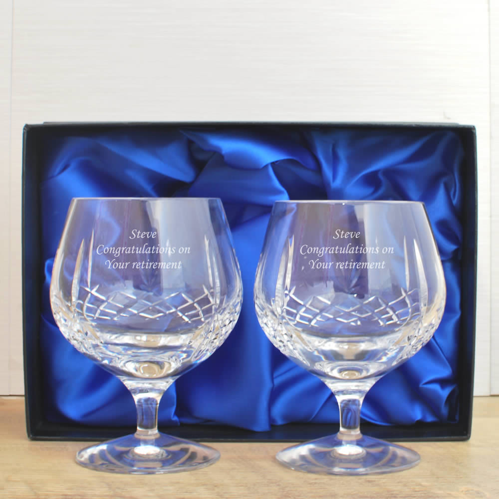 Mayfair 24 Lead Crystal Engraved Brandy Glass Set