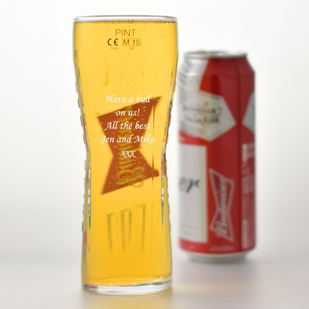 Budweiser Engraved Glass