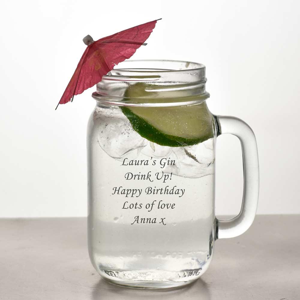 Personalised Mason Drinking Jar