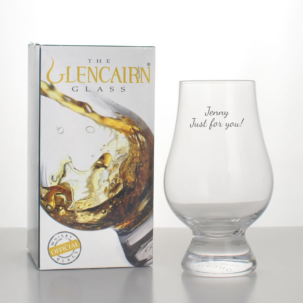 personalised glencairn whisky tasting glass engraved. Black Bedroom Furniture Sets. Home Design Ideas