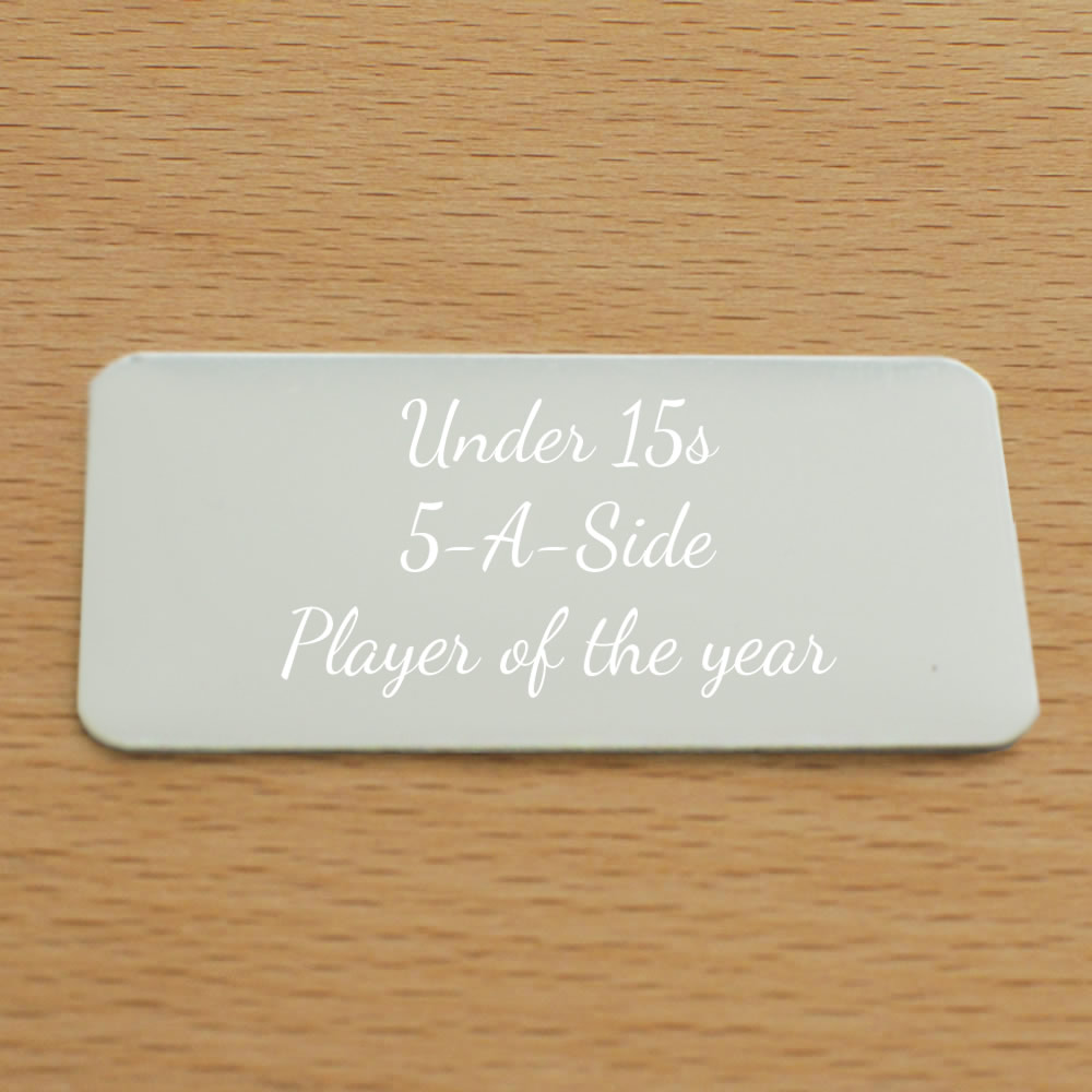 personalised self adhesive plaque