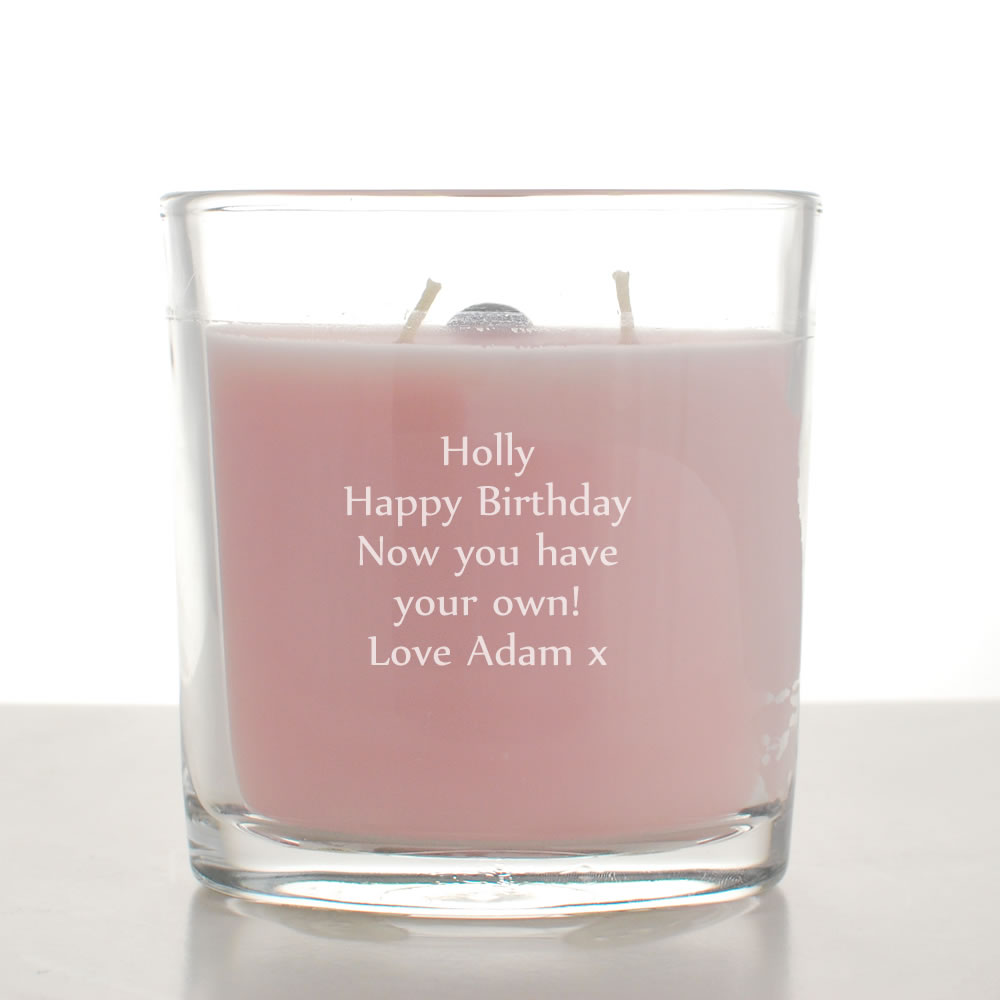 Personalised Colonial Candle 9 oz Oval Jar - Pink Cherry Blossom