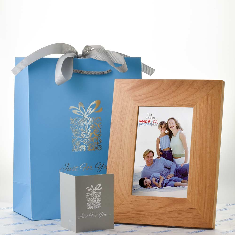 personalised i love you to the moon back photo frame