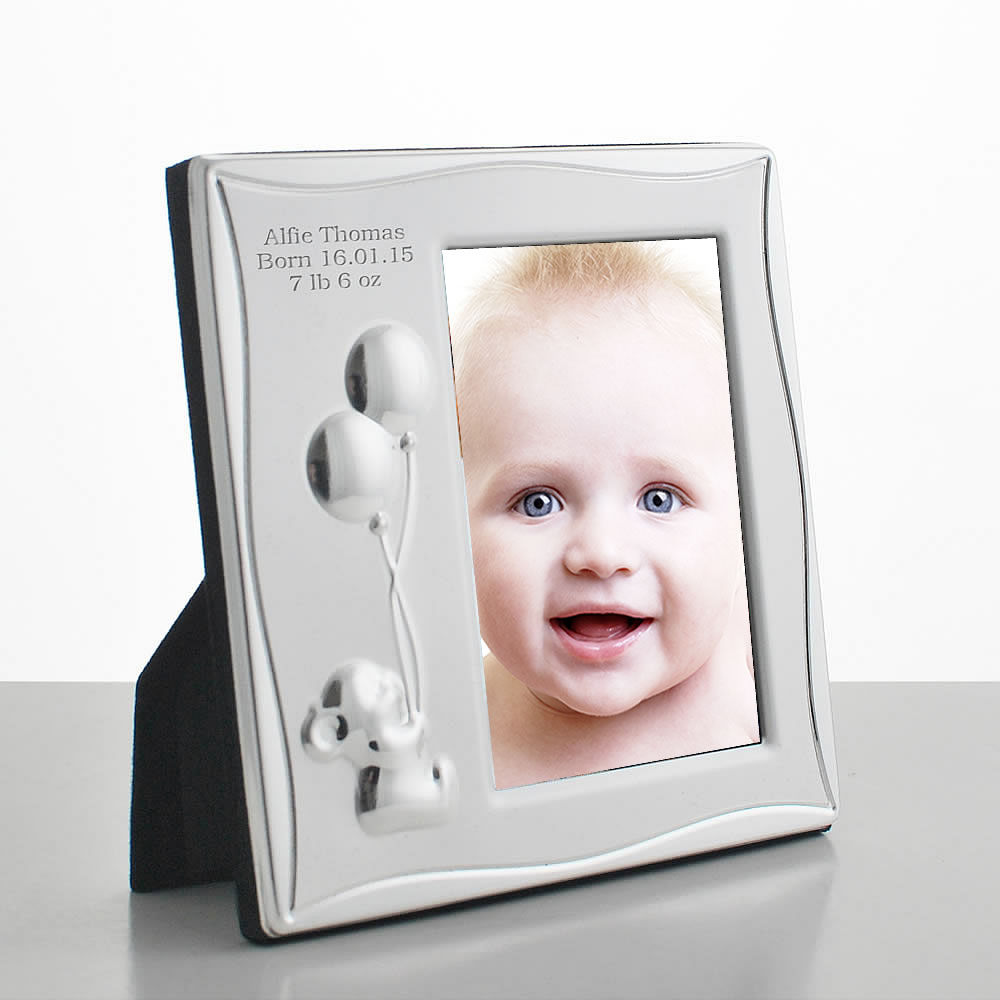 Personalised Baby Photo Frame - 2.7 x 4