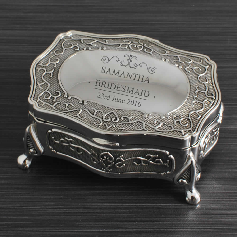 Antique Wedding Gifts: Personalised Wedding Antique Trinket Box