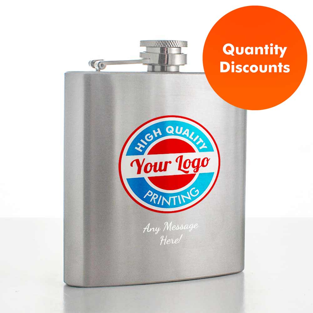 Full Colour Printed Hip Flask