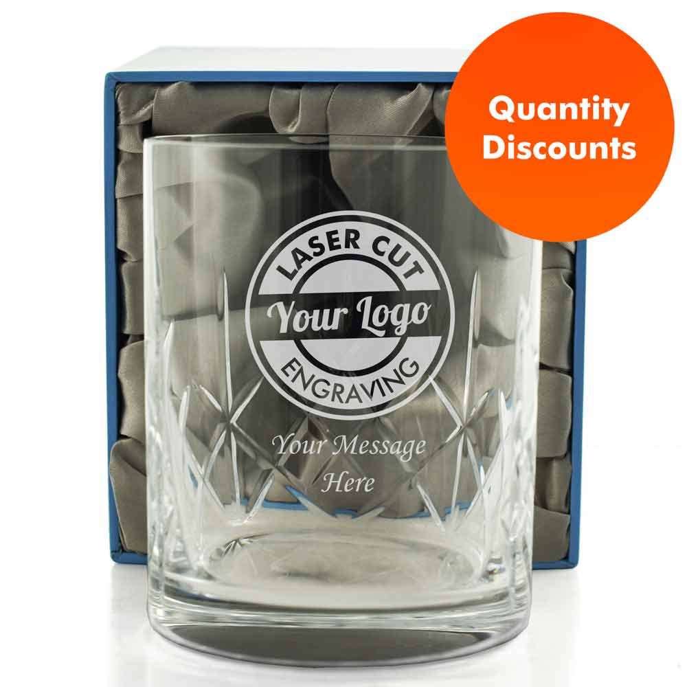 Logo Engraved Personalised Whiskey Tumbler
