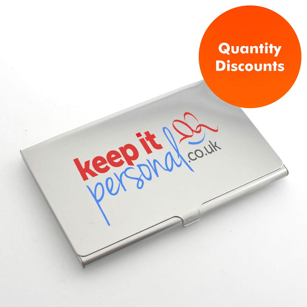 Full Colour Printed Personalised Business Card Holder