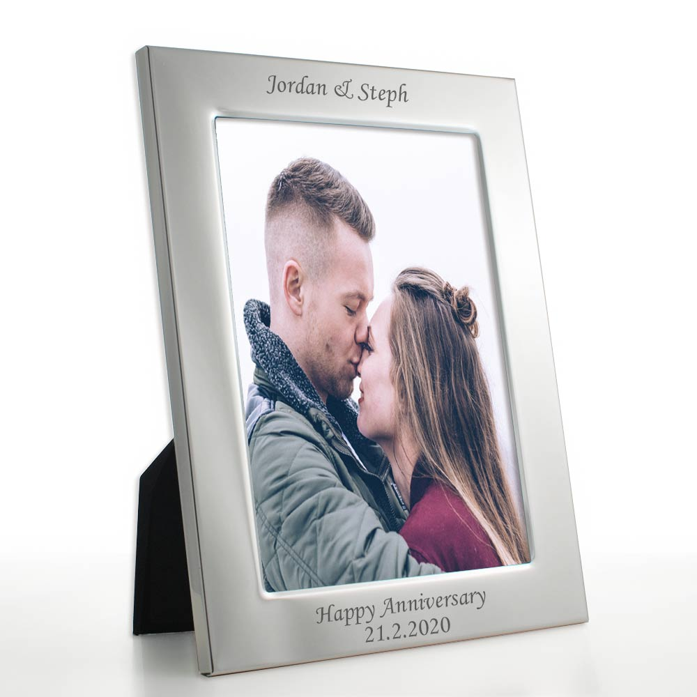 Engraved Deluxe Silver Personaised Photo Frame