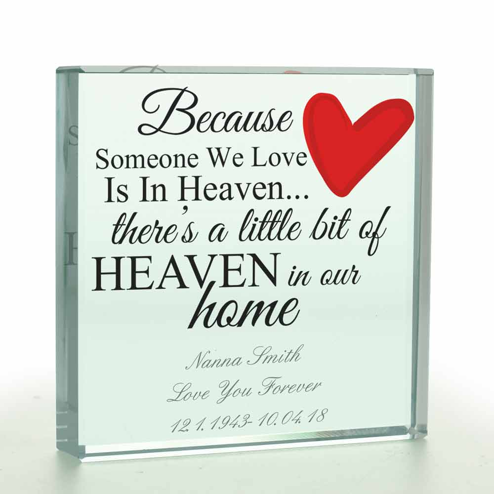 Personalised In Loving Memory Glass Token