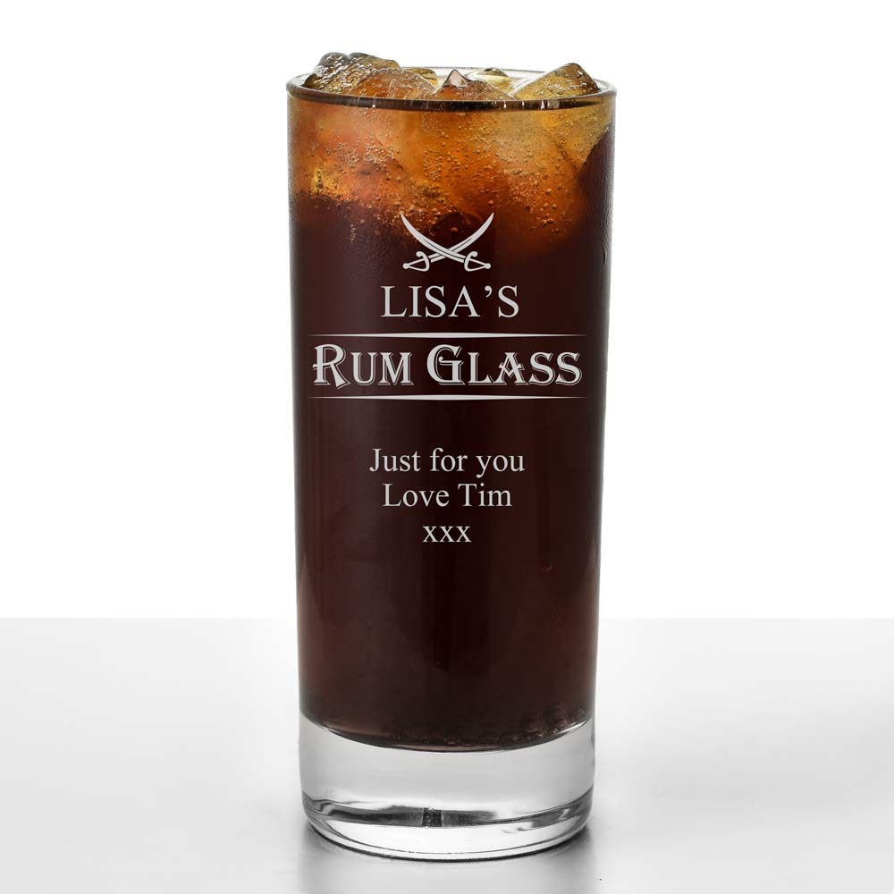 Personalised Rum High Ball Glass - Click Image to Close