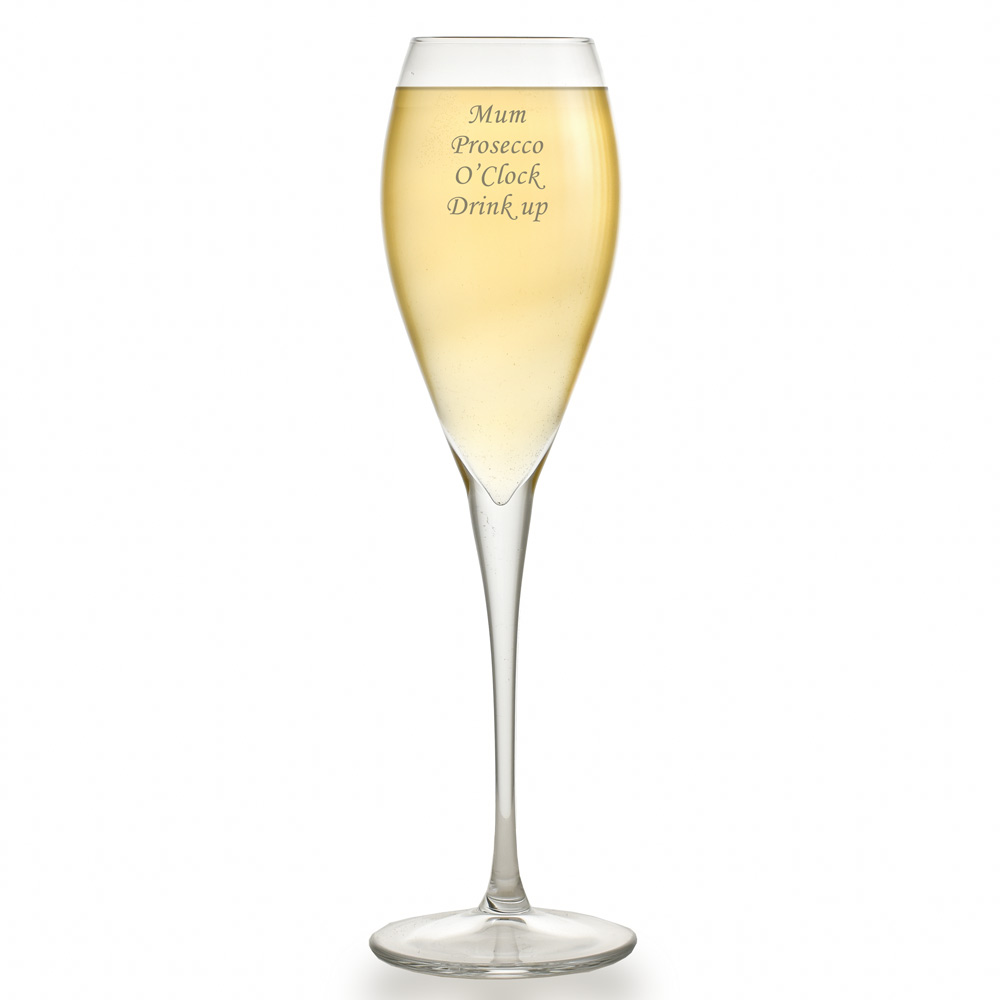 Personalised Luxury Prosecco Glass - Click Image to Close