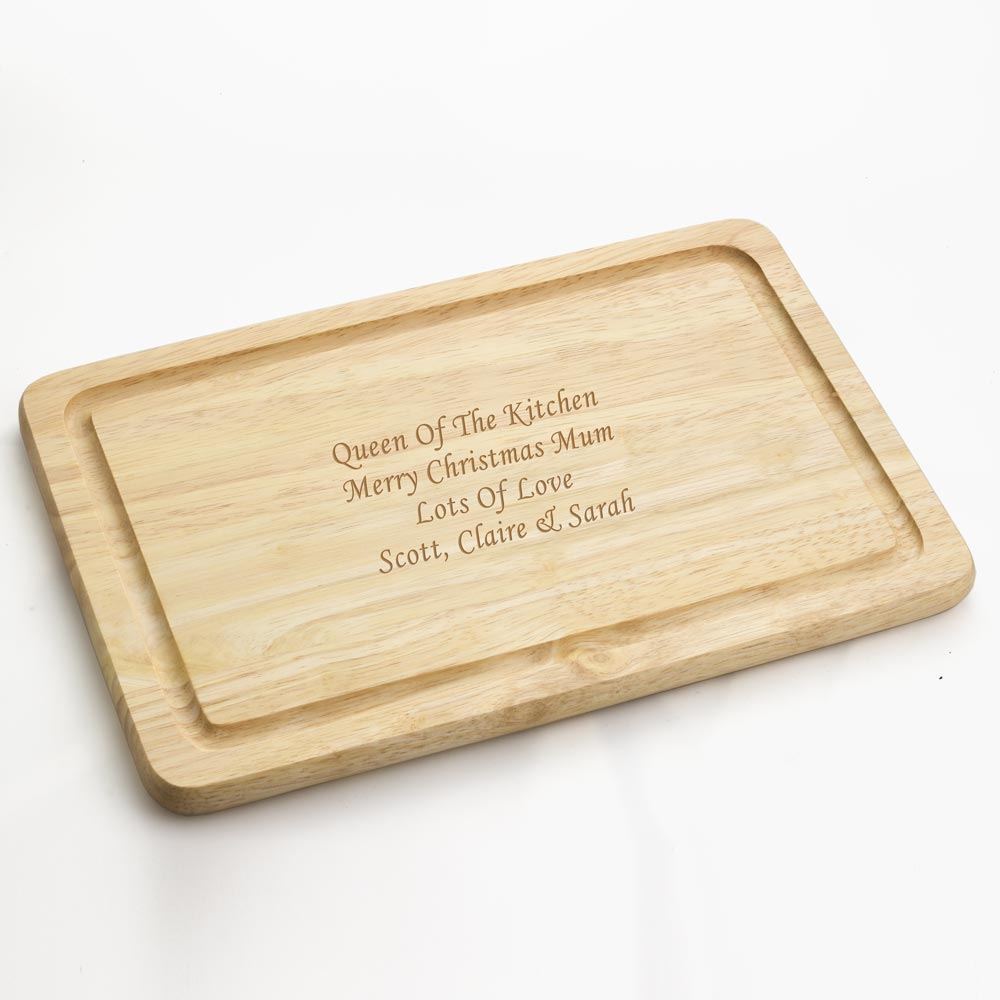 Personalised Engraved Wooden Chopping Board - Click Image to Close