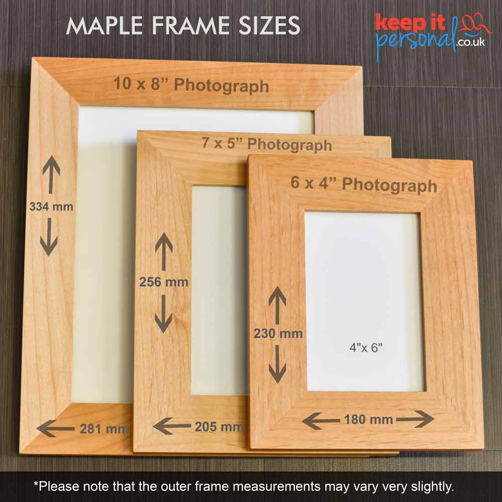 Personalised Wooden Photo Frame For Couples