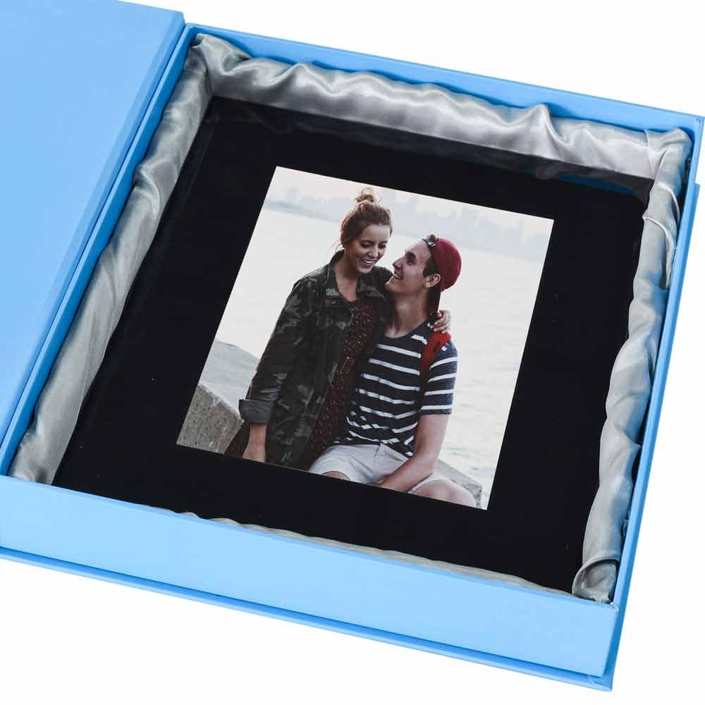 Personalised Love Heart Black Glass Frame For Couples 6 x 4 |Love Black Frame