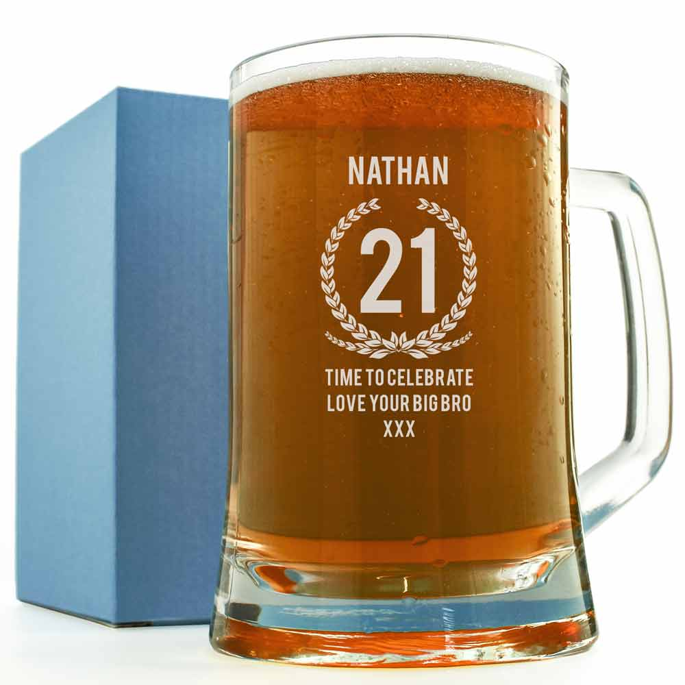 Personalised Pint Tankard Wreath Design - Click Image to Close