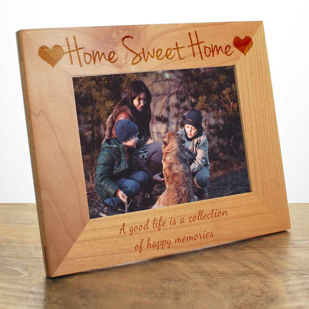 Personalised Home Sweet Home Photo Frame