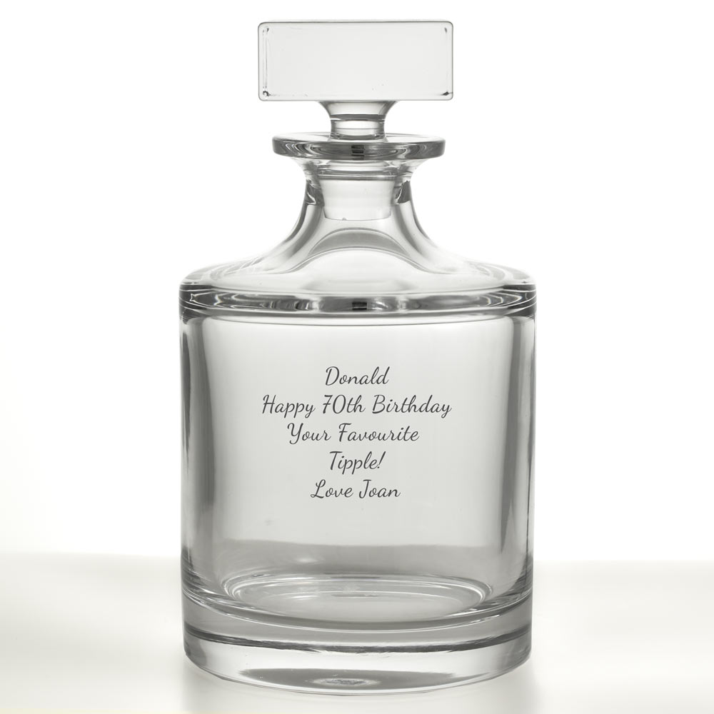 Personalised Contemporary Round Decanter
