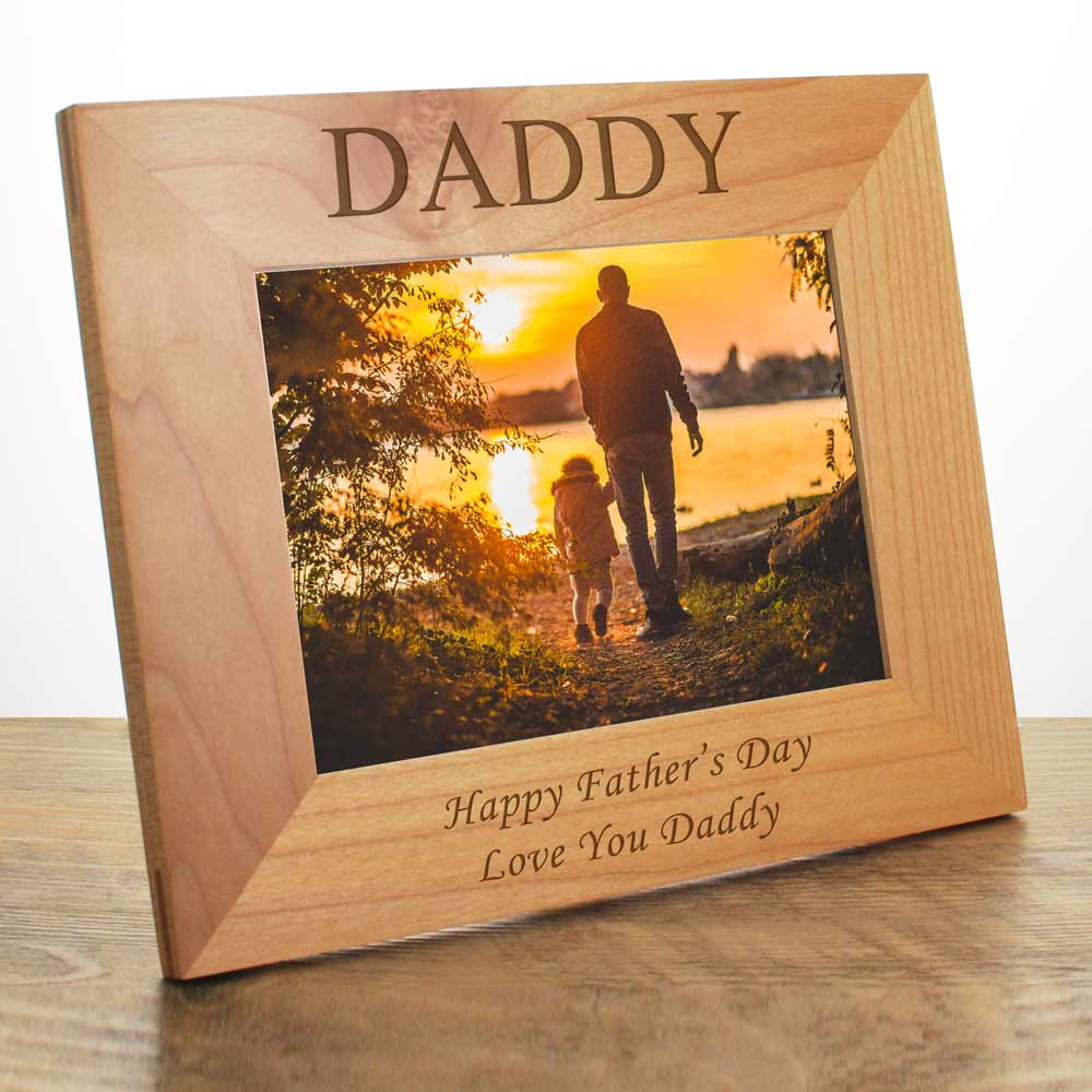 Personalised Daddy Wooden Photo Frame