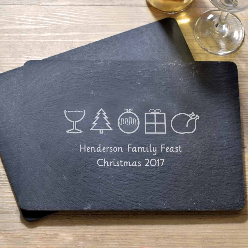 Personalised Christmas Themed Placemat Set