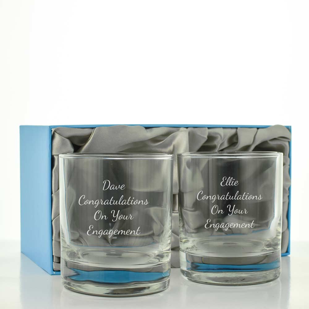 Personalised Whisky Glass Set - Click Image to Close