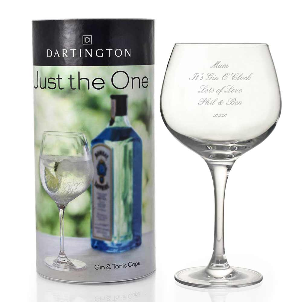 Personalised Dartington Copa Gin Glass - Click Image to Close