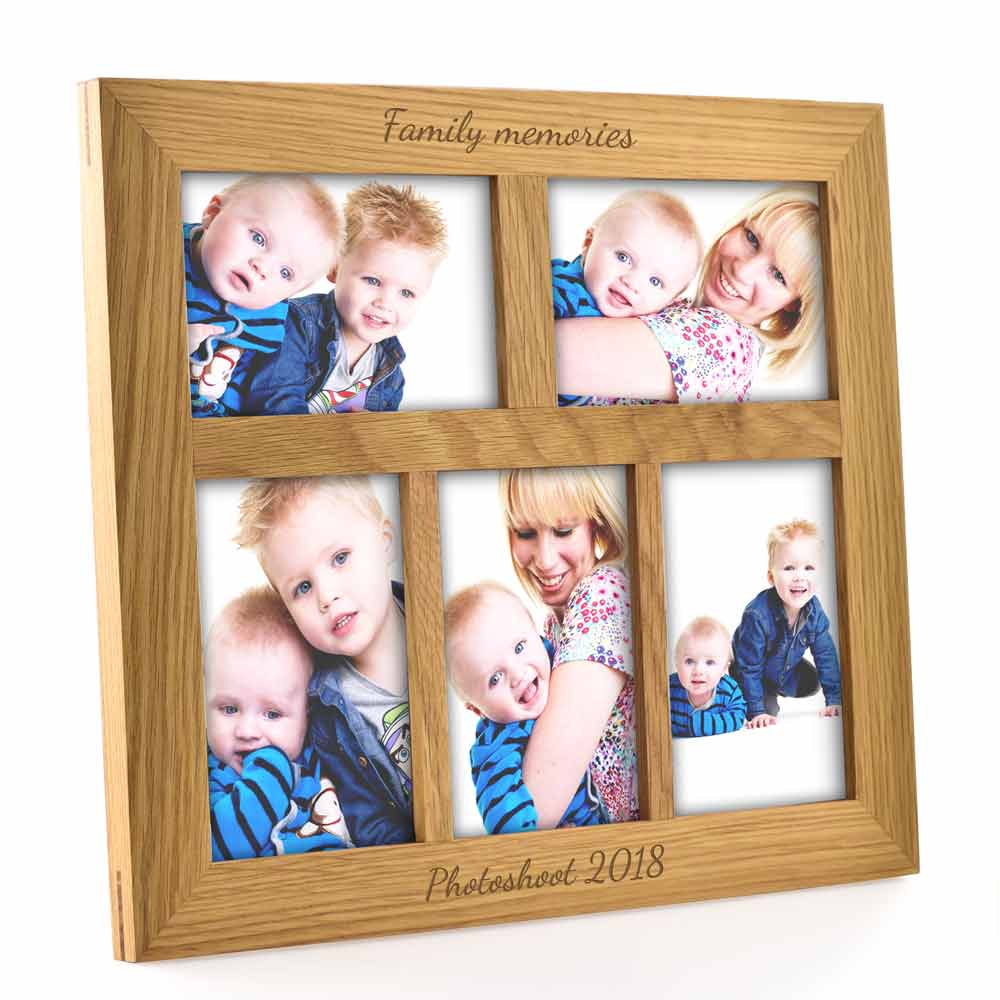 Personalised Oak Landscape Collage Frame - Click Image to Close