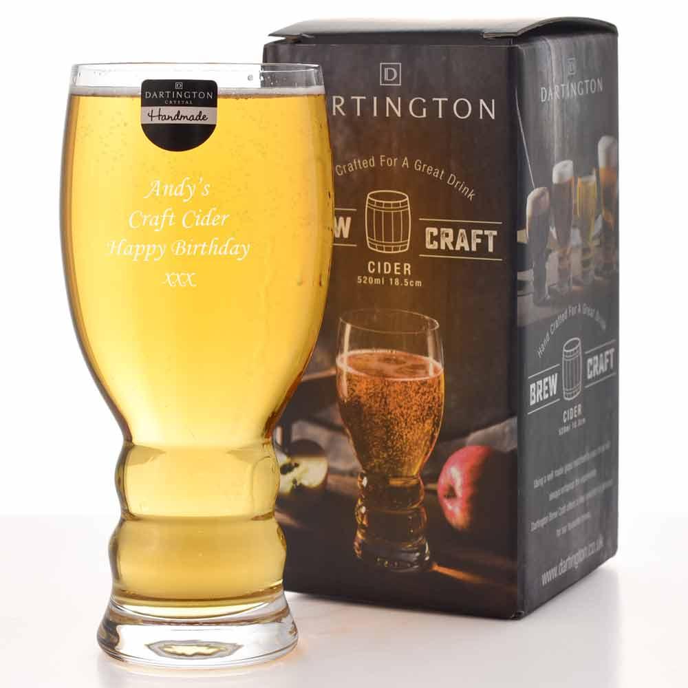 Dartington Crystal Brew Craft Real Ale Pint Glass For Cider Lager Beer Gift UK