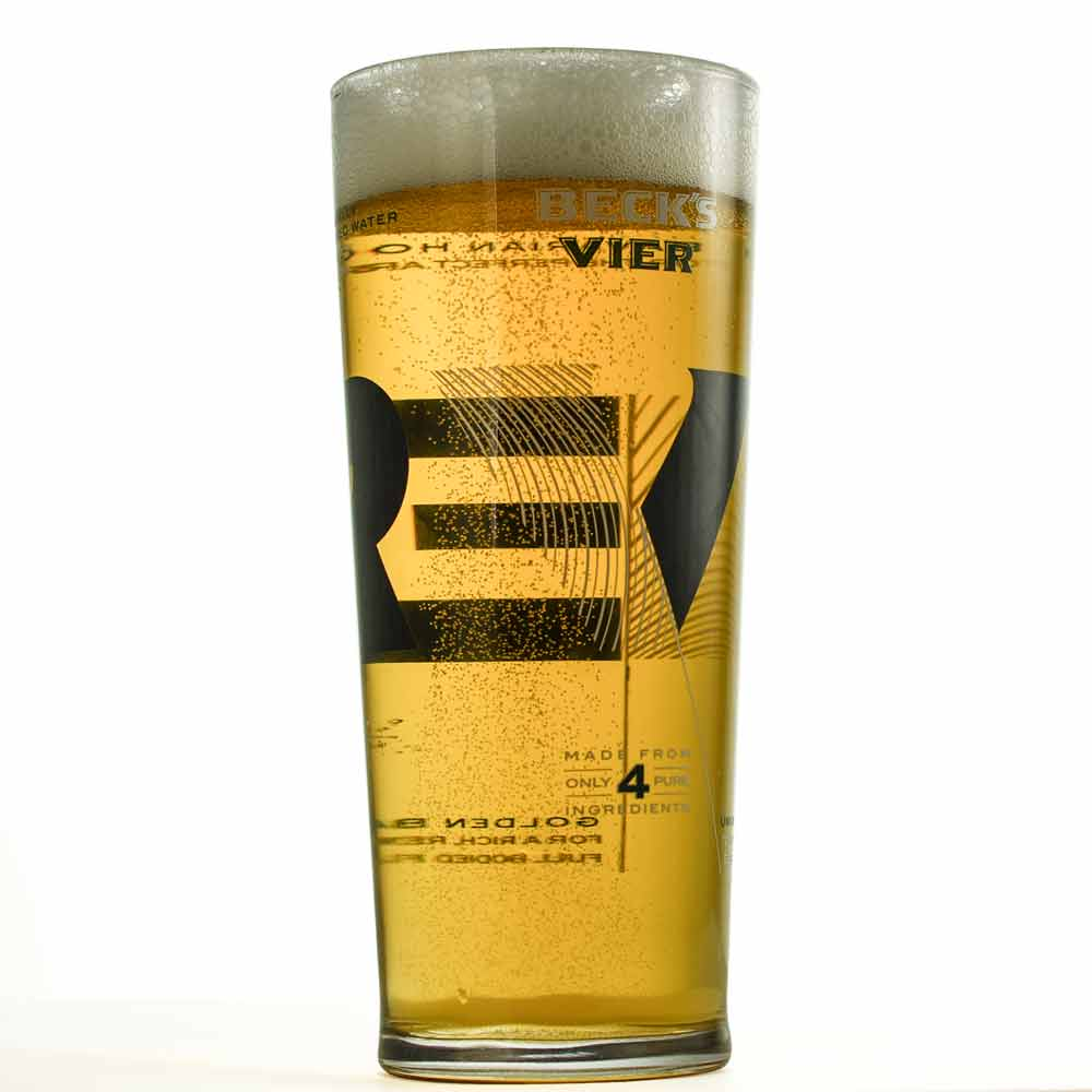 Personalised Becks Pint Glass - Click Image to Close