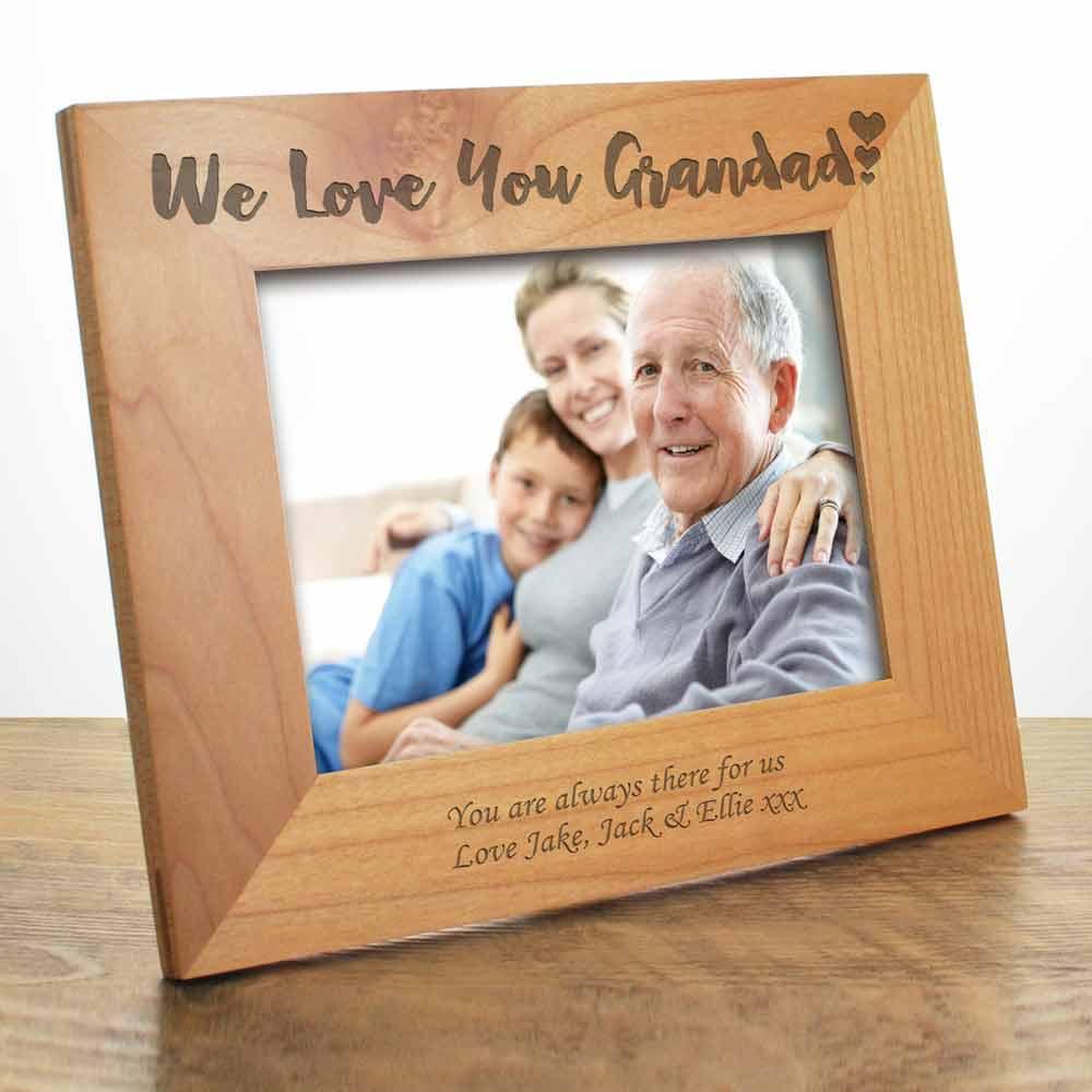 Personalised We Love You Grandad