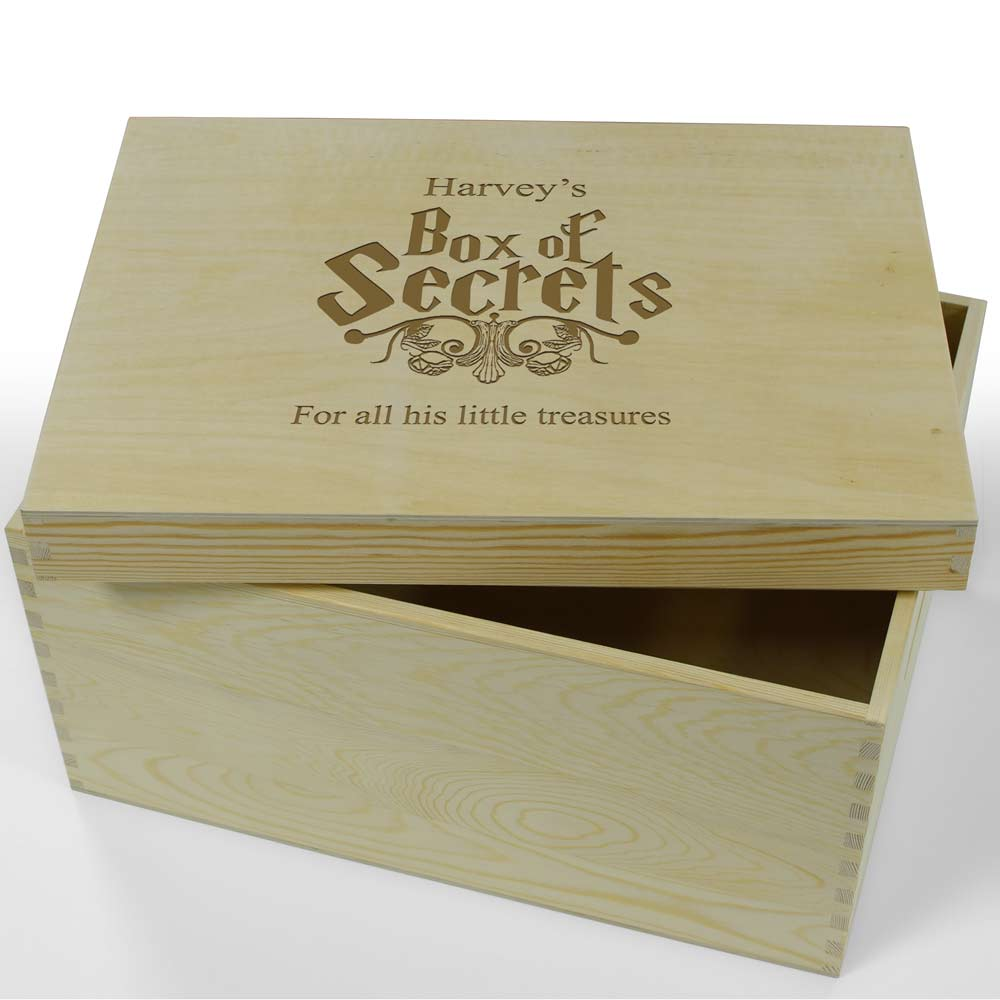 Personalised Wooden Keepsake Box Box Of Secrets