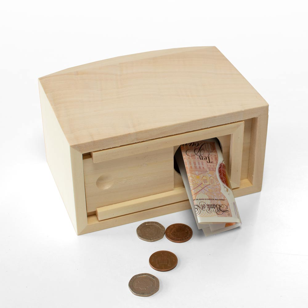 Personalised Dinosaur Wooden Money Box