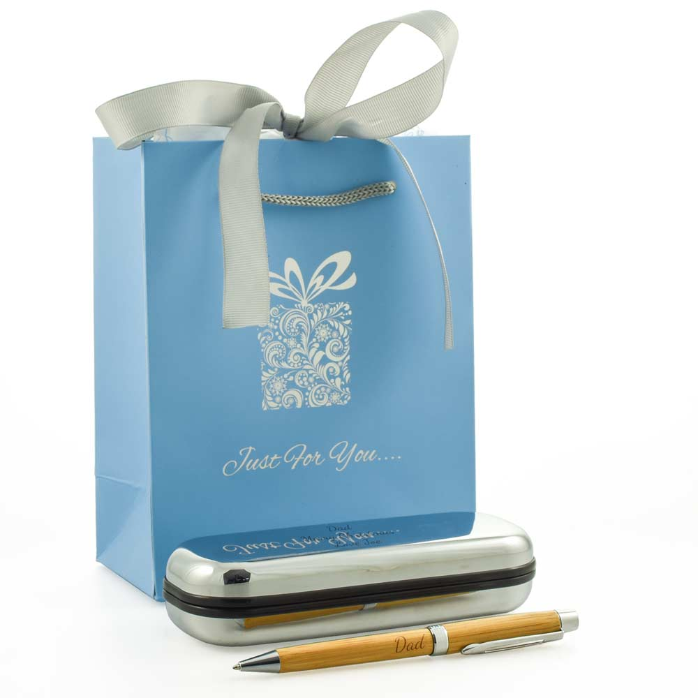 Personalised Wooden Pen Gift Set With Luxury Bag - Click Image to Close