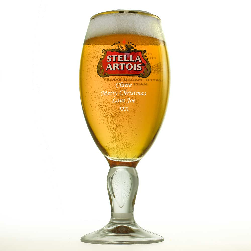 Personalised Stella Half Pint Glass