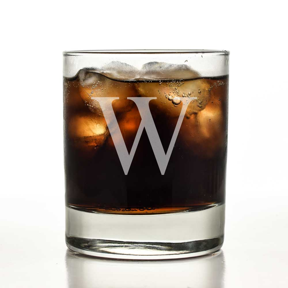 Engraved Initial Personalised Whisky Tumbler
