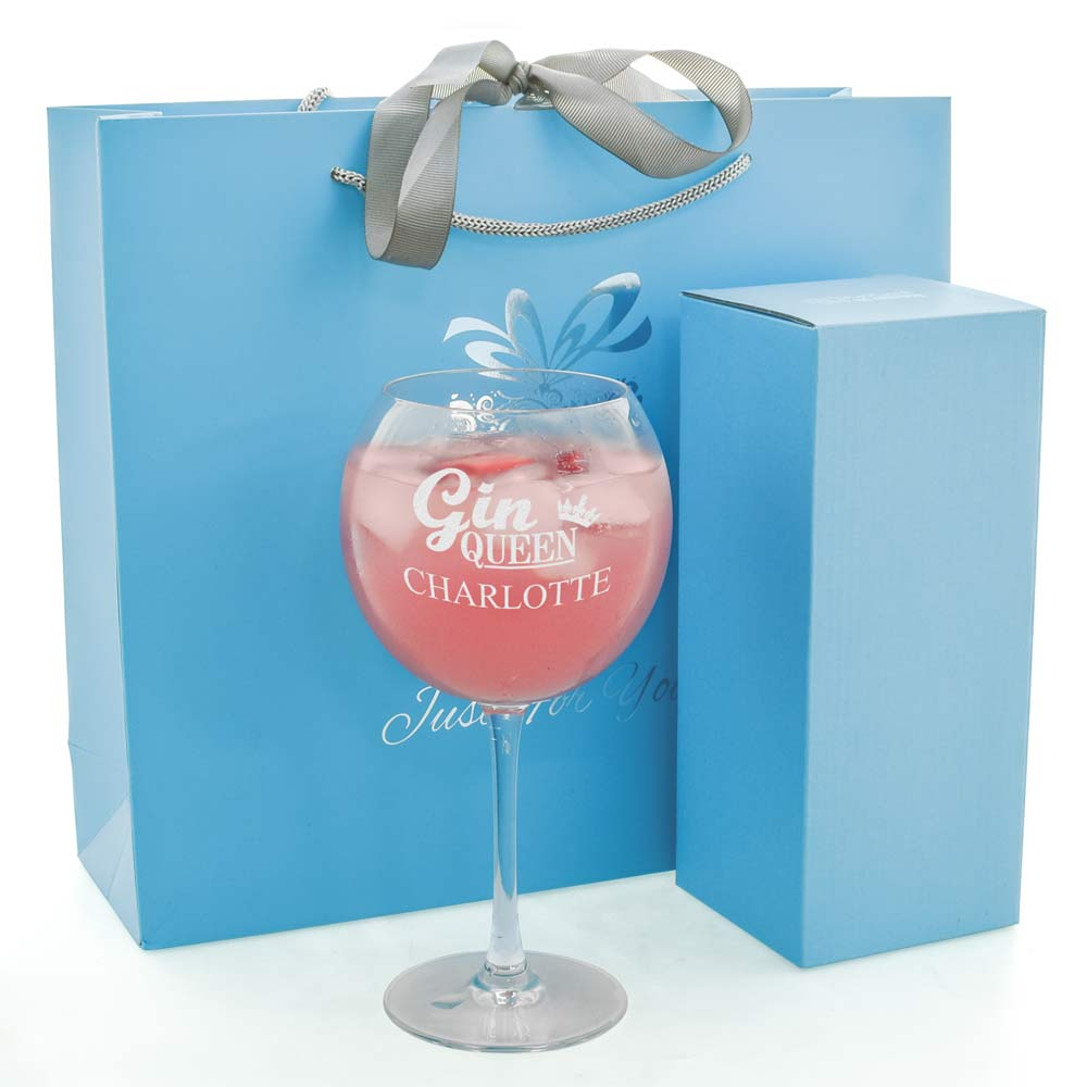 Personalised Gin Queen Baloon Glass
